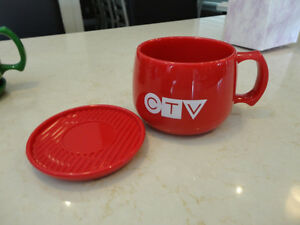 Vintage CTV Television Cup & Saucer -Made from Natural Corn USA Kitchener / Waterloo Kitchener Area image 7