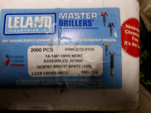 REDUCED! Metal Screws with Seals. 1.5 inch.2250+/- Total. $70.00