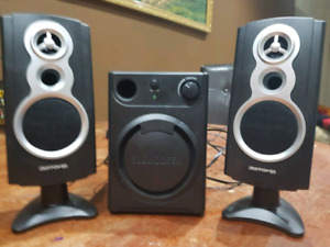 PC speakers with subwoofer $15