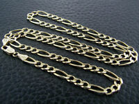 """10k-Solid-Yellow-Gold-7mm-Figaro Chain 24"""""""