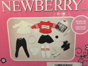 "NEWBERRY HOCKEY & SKATING OUTFITS CLOTHING FOR 18"" DOLLS"