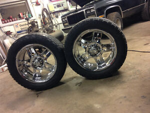 22 Inch chrome 6 bolt Chevy 35 inch tires London Ontario image 2