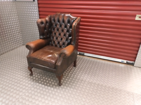 VINTAGE CHESTERFIELD ARM CHAIR LOCAL DELIVERY AVAILABLE TODAY