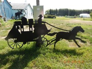 OLD WEST STAGE COACH SILHOUETTE