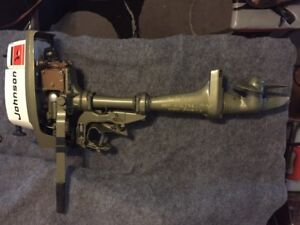 2 HP Johnson Lightweight Outboard. Barn  Find!! Hardly used