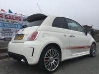 ABARTH 500 1.4 T-JET 135 3DR WHITE ** RED LEATHER **NOVITEC EXHAUST PX FIAT 500