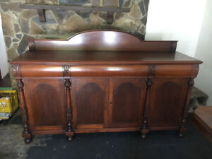 Antique cherry buffet. Beautiful solid wood construction.