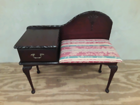 Telephone Seat with Drawer