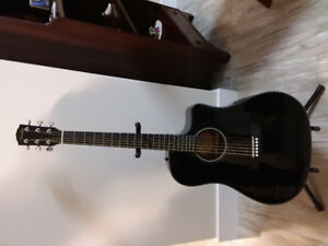 Fender Acoustic Electric Guitar and Hard Shell Case