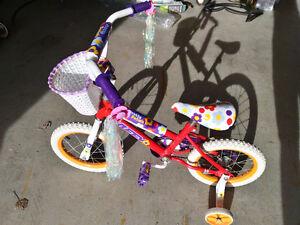 girl's bike with training wheels