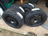 Winter Wheels and Tyres, brand new steel rims and Hankook Tyres