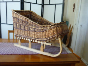 Hand crafted cane sleigh