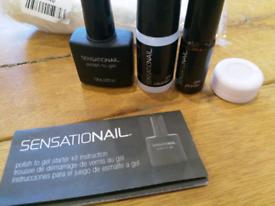 Sensationail UV gel nails lamp and starter kit for sale  Laurencekirk, Aberdeenshire
