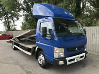 2016 66 Mitsubishi Canter AUTO 2 CAR TRANSPORTER RECOVERY 7.5 TONN 19k MAY PX