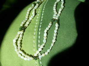 Fresh Water Pearls with Lucky Jade