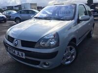 Renault Clio 1.2 Dynamique 2004 + FULL SERVICE HISTORY + MOT TILL DECEMBER 2016 + DRIVES SUPERB