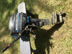 Outboard Mercury Long shaft 9.8 Hp /Moteur Hord-Bord