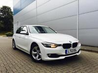 2012 12 Reg BMW 320d Efficient Dynamics auto/ Step + WHITE + LEATHER + NICE SPEC