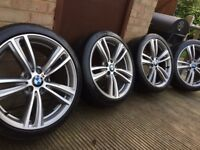 "Genuine BMW 3 4 Series 19"" 442 M Sport Alloy Wheels & Tyres F30 F31 F32 F33 F34 F36 E90 E92 Z4"