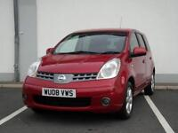2008 NISSAN NOTE 1.4 ACENTA R, SMALL MPV, 12 MONTHS MOT, 3 MONTHS WARRANTY,