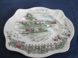 Assiette / Plate ''The Road Home'' England by Johnson Bros