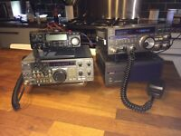 For sale a Yaesu 757 GX radio, alinco DX 70 radio and a kenwood TS180 plus lots of accessories