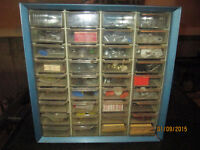 Vintage AKRO MILS Metal Storage Box
