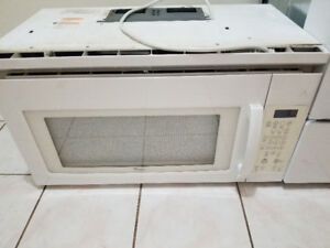 """Whirlpool white 30"""" over the range microwave exhaust system"""