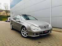 2005 05 reg Mercedes-Benz C220 CDI auto Coupe + Panoramic + Sat NAV + Leather