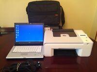 Fujitsu Laptop/printer and laptop bag