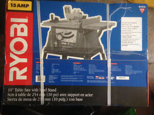 10 inch 15 amp table saw with stand