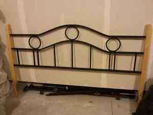 King size headboard with frame