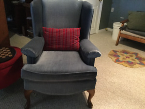 Slate blue chair