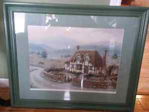 Numbered print of european cottage