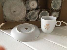 White porcelain espresso set