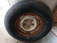 Tire on Steel Rim