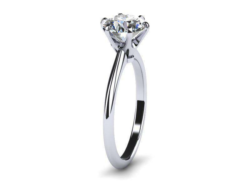 Solitaire Diamond Ring Round 1.55 Carats 18k White Gold Vs Size 4.5 5 6 7 8