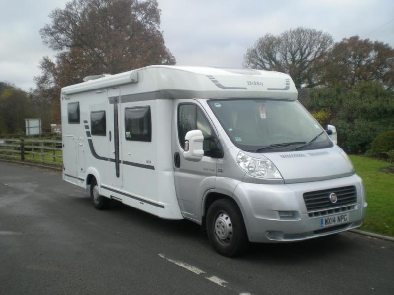 HOBBY SIESTA T70 HGE, 4 motorhome with front drop down bed