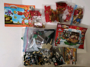 Large lot Lego mega Blok Star wars, Skylanders power Rangers