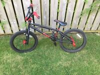 Frank black and red BMX bike
