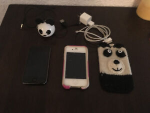 iPhone 4, iPod Touch and speaker with cases