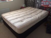 King size bed with 2 single divan bases & mattress