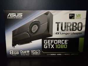 ASUS GTX 1080 TURBO 8GB - BARELY USED