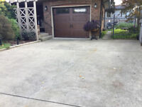 Interlock installer for 2 sections of driveway