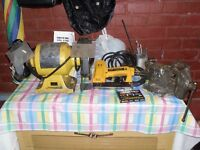 Bench Grinder, Staple Gun,  Vice