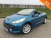 2008 PEUGEOT 207 CC GT 1.6 16V 120PS - 45K MILES - CONVERTIBLE - IMMACULATE - 6 MONTHS WARRANTY