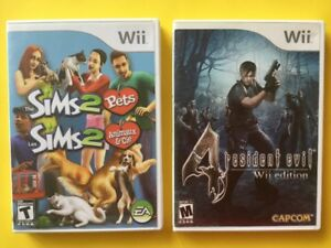 Resident Evil 4-20$ Sims 2 Pets - 25$