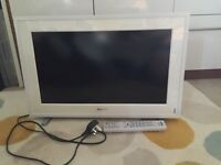 White Sony Bravia tv