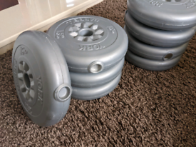 8 X 2.3kg Weight Plates (for dumbbells or barbell)