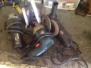 2 grinders an 3/8 corded drill